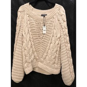 NWT Cream Small Express Sweater